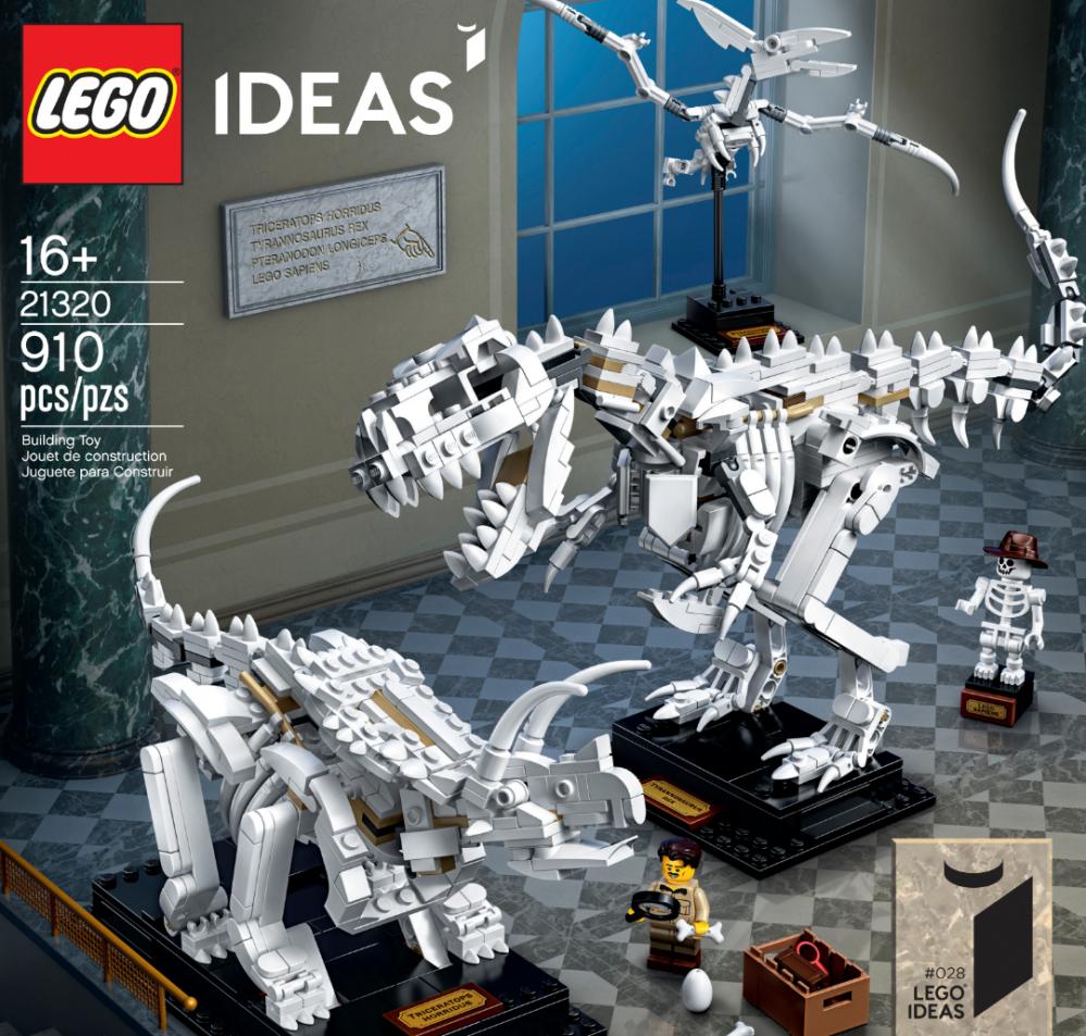 LEGO Ideas Fossili di Dinosauro set 21320
