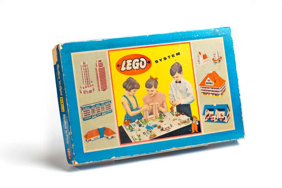 Storia della LEGO - 1955 - Scatola LEGO SYSTEM