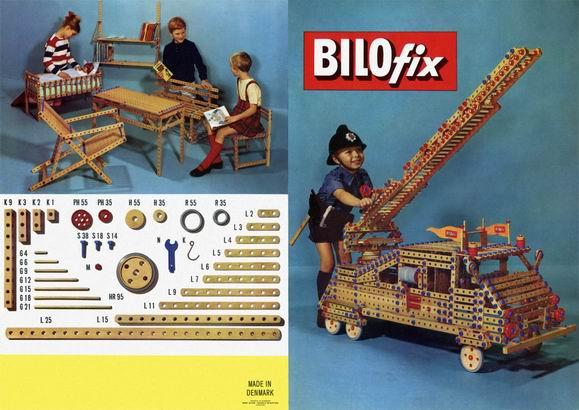 Storia della LEGO - 1959 - Bilofix in legno e plastica