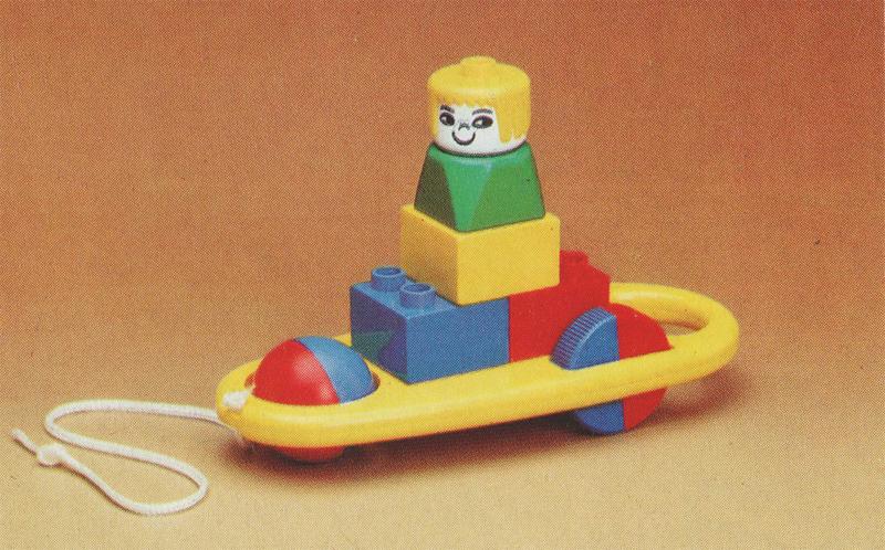 Storia della LEGO - 1980 - Modello Pull-Along con Corda