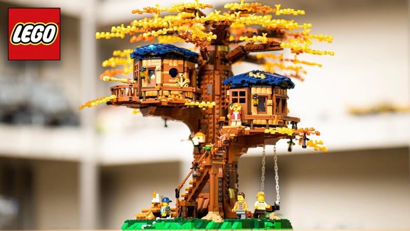 LEGO Ideas - Casa sull'Albero - Set 21318 + Speed Building