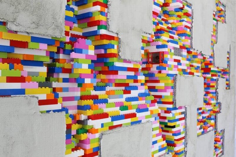 LEGO Walls - I Muri in LEGO di Dante Dentoni - Arte LEGO - Una parete, Una Storia