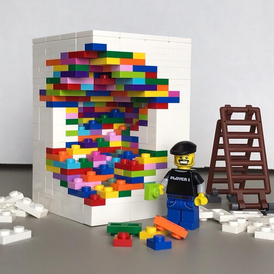 LEGO Walls - I Muri in LEGO di Dante Dentoni - Arte LEGO