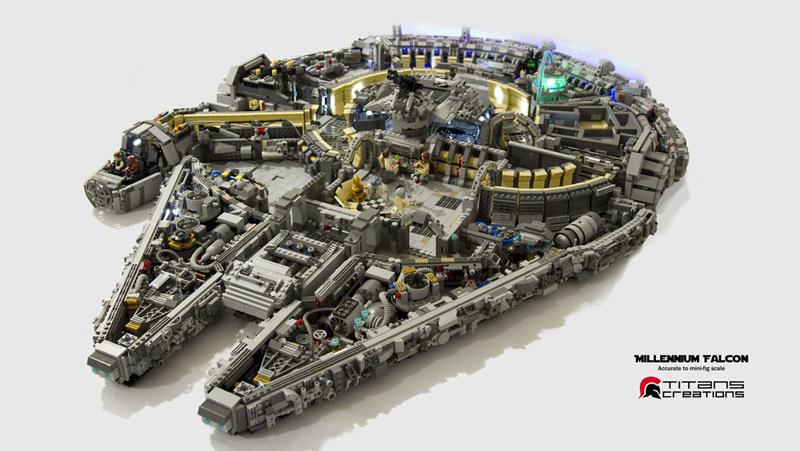 Millennium Falcon Star Wars LEGO MOC - 25.000 pezzi LEGO - FANTASMAGORICO