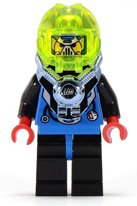 Minifigura LEGO Aquazone Hydronauts - Capitano Hank Hydro