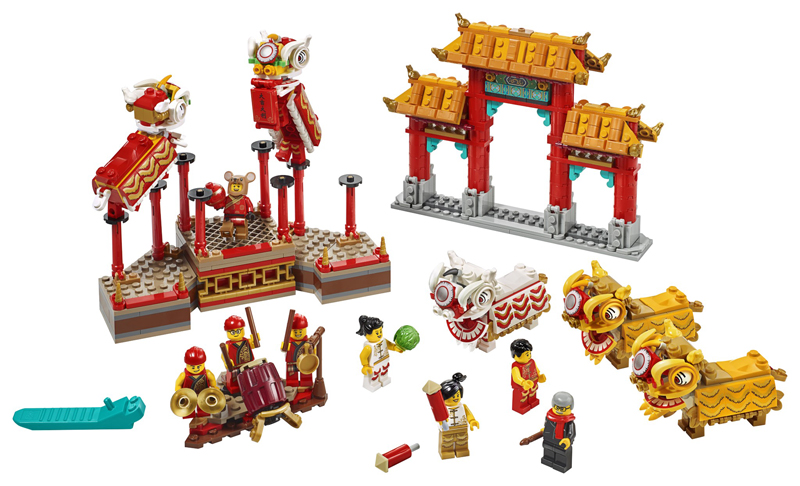 Novità LEGO Capodanno Cinese - 2020 - Set LEGO Danza del Leone e Tradizionale Fiera del Tempio 1