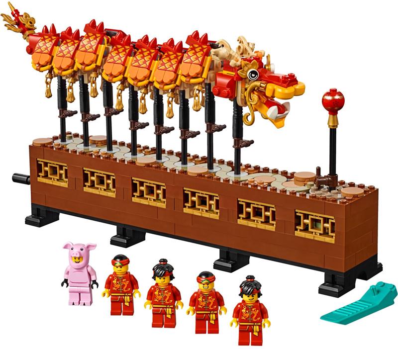 Novità LEGO Capodanno Cinese - 2020 - Set LEGO Danza del Leone e Tradizionale Fiera del Tempio - Dragone