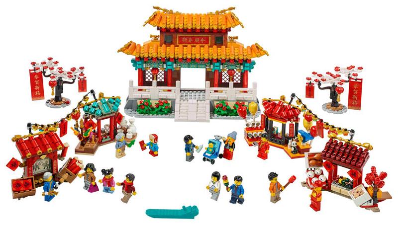 Novità LEGO Capodanno Cinese - 2020 - Set LEGO Danza del Leone e Tradizionale Fiera del Tempio - Set 80104 e 80105