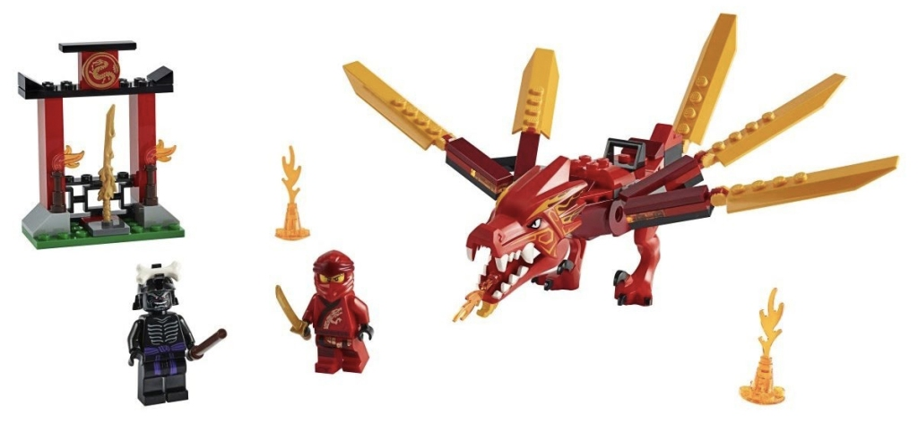 Rivelato Set LEGO Ninjago Drago di Fuoco di Kai - Set 71701
