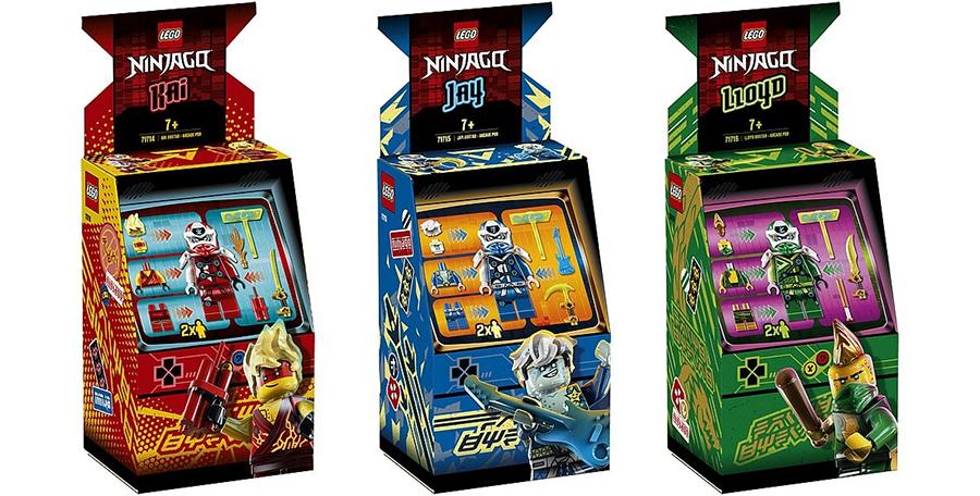 Rivelato Set LEGO Ninjago Kai, Jay e Lloyd Cabinati Arcade - Set 71714, 71715 e 71716