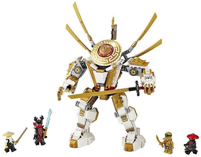 Rivelato Set LEGO Ninjago Mecha Dorato - Set 71702