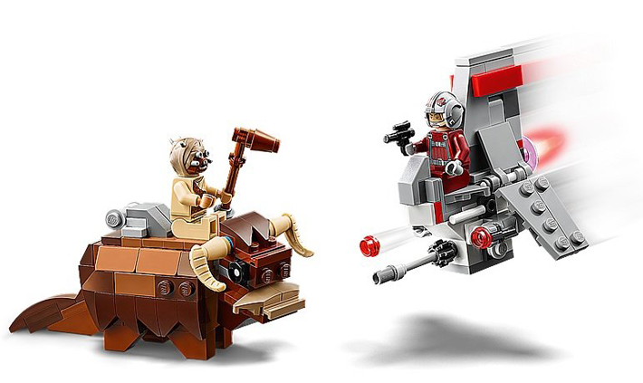 Rivelato Set LEGO Star Wars - T-16 Skyhopper vs. Bantha Microfighters - Set 75265