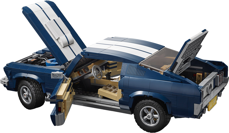 LEGO Creator Expert – Ford Mustang 1965 – Set 10265 + Speed Building - Parti Mobili