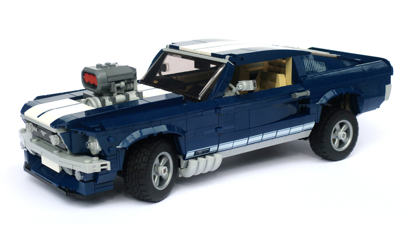 LEGO Creator Expert – Ford Mustang 1965 – Set 10265 + Speed Building - Auto LEGO Ford Mustang Preparata
