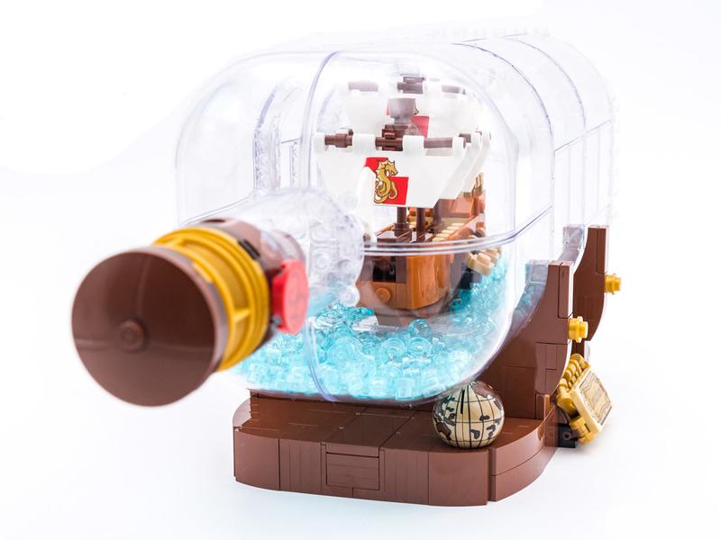 LEGO Ideas - Nave nella Bottiglia - Vista Frontale