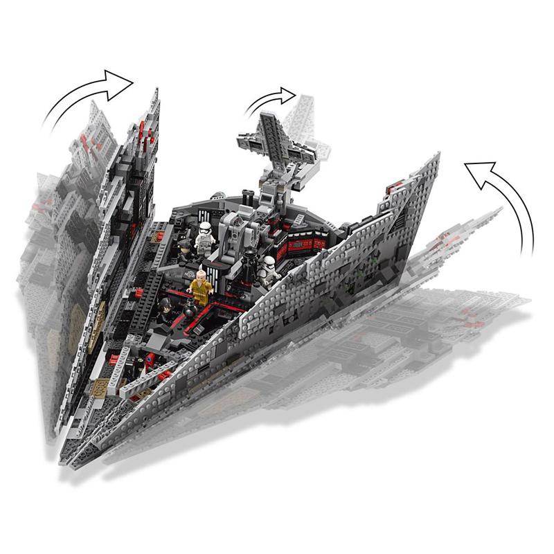 LEGO Star Wars – Star Destroyer del Primo Ordine - Set 75190 - Apertura e Chiusura dei Sportelli