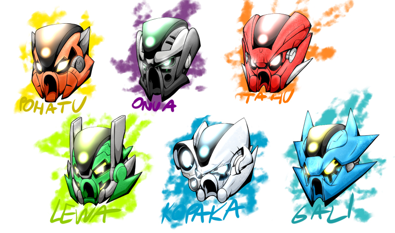 Lista Set LEGO Bionicle - Maschere