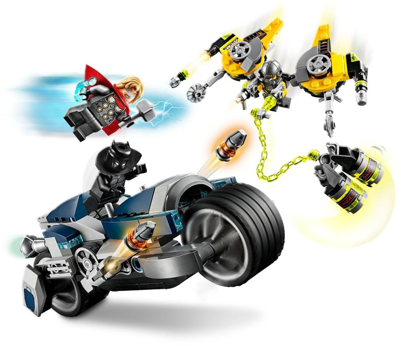 Rivelati Set LEGO Marvel Avengers e Spider-Man - Gennaio 2020 - Speeder Bike Attack degli Avengers (76142)