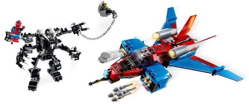 Rivelati Set LEGO Marvel Avengers e Spider-Man - Gennaio 2020 - Spider-Jet vs. Mecha di Venom (76150)