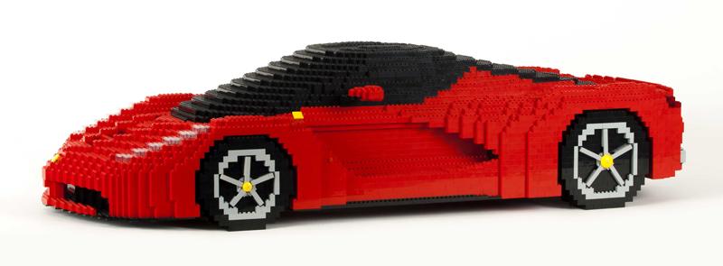 Diventa un LEGO Master Builder - Scultura Riccardo Zangelmi Ferrari