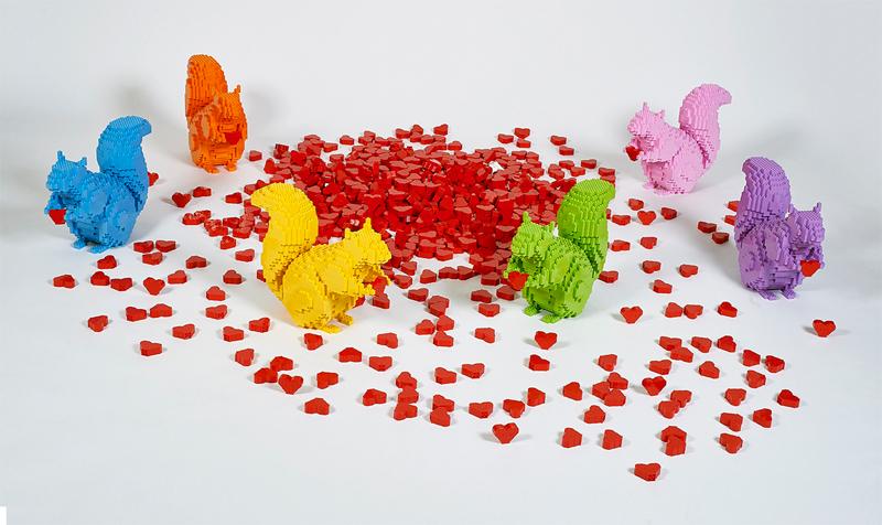 Diventa un LEGO Master Builder - Scultura Riccardo Zangelmi Scoiattoli