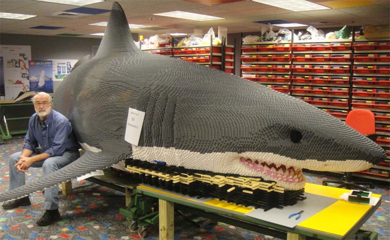 Diventa un LEGO Master Builder - Scultura Steve Gerling Grande Squalo Bianco