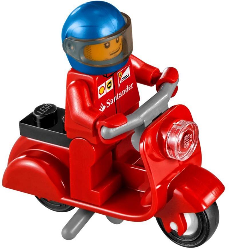 LEGO Speed Champions - Ferrari F14-T e Camion Scuderia Ferrari, set 75913 - Scooter Ferrari