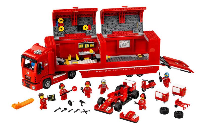 LEGO Speed Champions – Ferrari F14-T e Camion Scuderia Ferrari, set 75913