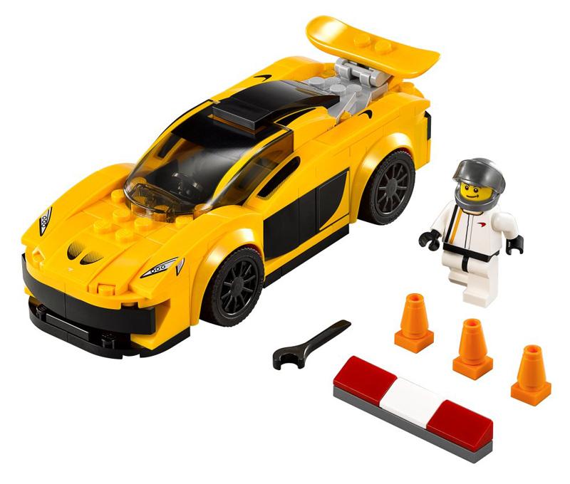 LEGO Speed Champions - McLaren P1 - set 75909 con Minifigura Pilota McLaren P1, Dosso, Coni e Chiave Inglese