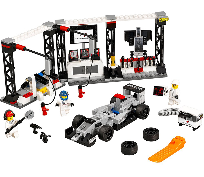 LEGO Speed Champions - Pit-Stop McLaren e auto da F1 Mercedes MP4-29 - set 75911