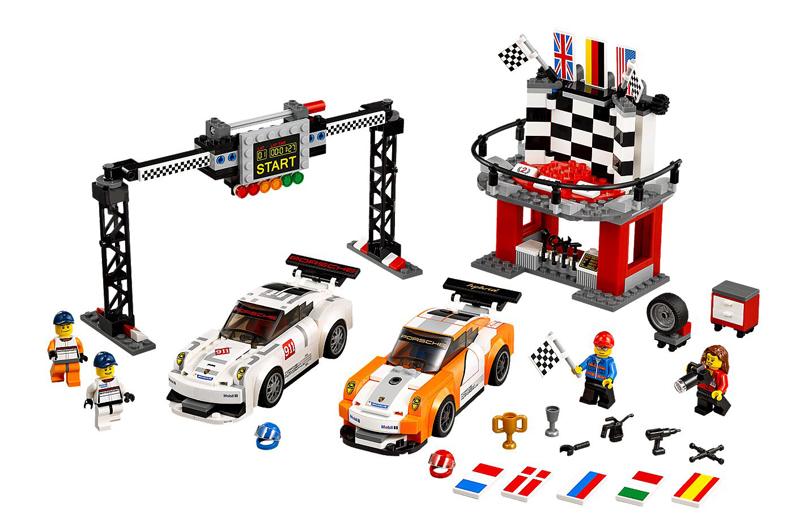 LEGO Speed Champions - Porsche 911 GT e Linea del Traguardo - set 75912