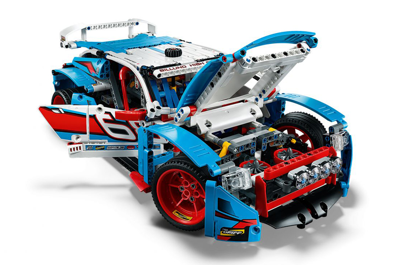 LEGO Technic Auto da Rally set 42077 - Visuale Frontale