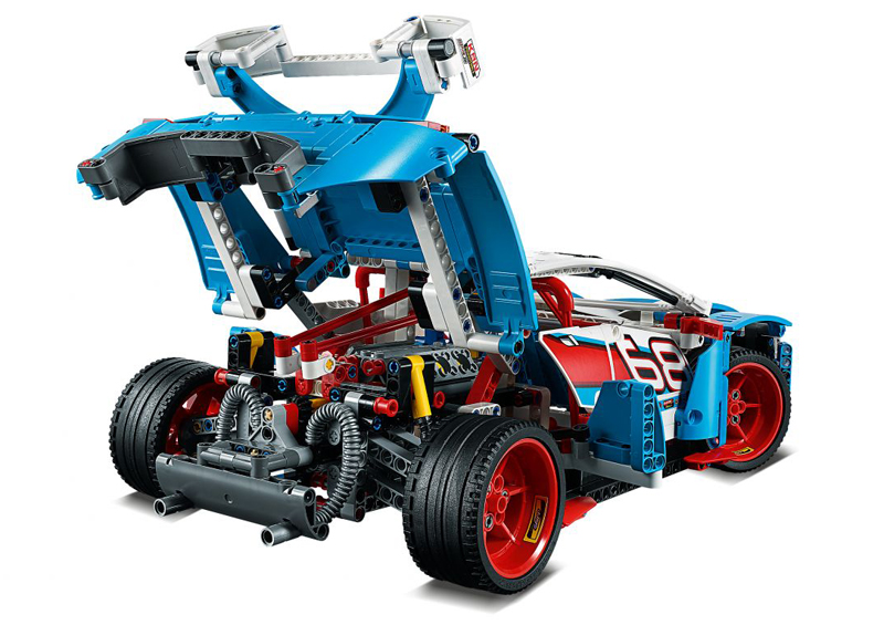 LEGO Technic Auto da Rally set 42077 - Visuale Posteriore