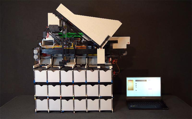 Macchina Selezionatrice Universale LEGO - MOC folle - Utilizza l'IA e riconosce qualsiasi Mattoncino LEGO