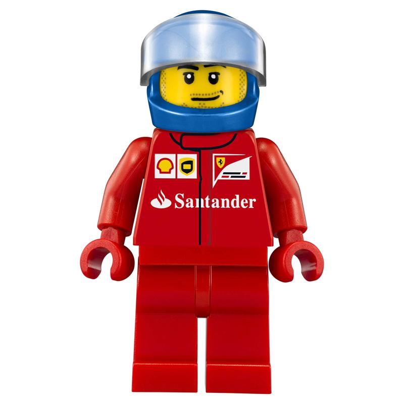 Minifigura LEGO Speed Champions - Autista del Camion della Scuderia Ferrari