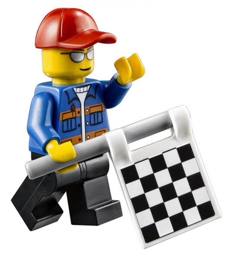 Minifigura LEGO Speed Champions - Funzionario di Gara Uomo