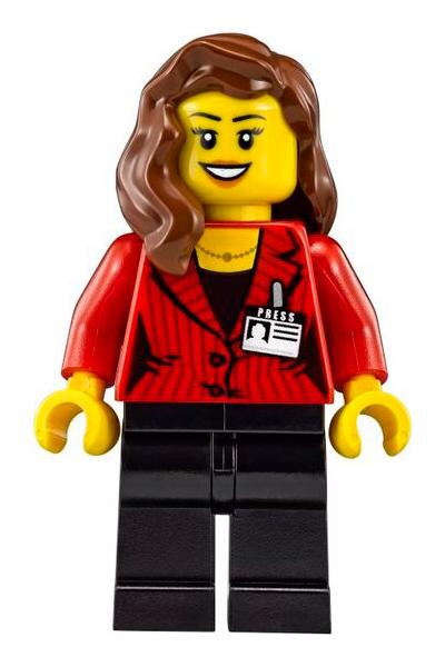 Minifigura LEGO Speed Champions - Giornalista e Fotografa Donna