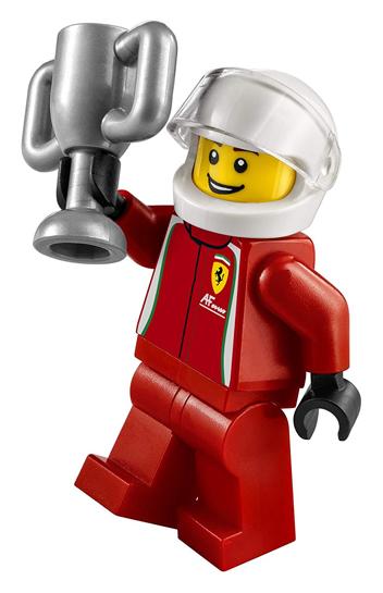 Minifigura LEGO Speed Champions - Pilota della Ferrari 458 Italia GT2