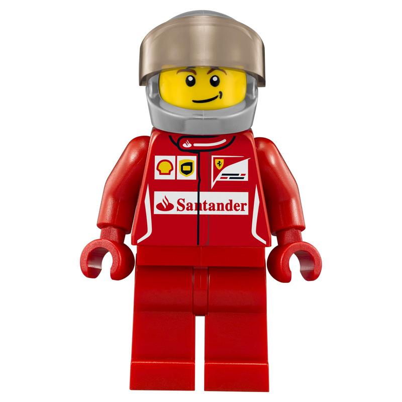 Minifigura LEGO Speed Champions - Pilota della Ferrari F14-T