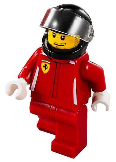 Minifigura LEGO Speed Champions – Pilota della Ferrari LaFerrari