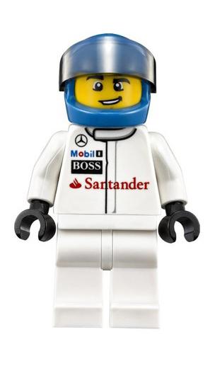 Minifigura LEGO Speed Champions - Pilota della Mercedes MP4-29 da Formula 1