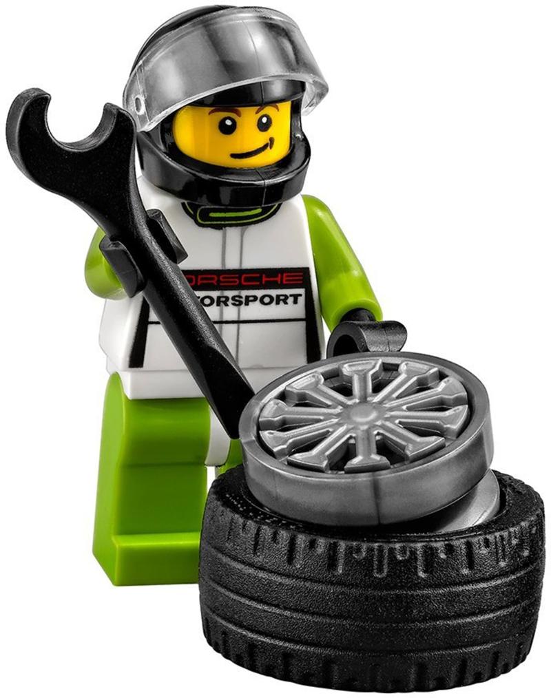 Minifigura LEGO Speed Champions - Pilota della Porsche 918 Spyder