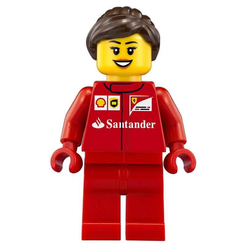 Minifigura LEGO Speed Champions - Primo membro dell'equipaggio della Scuderia Ferrari Donna
