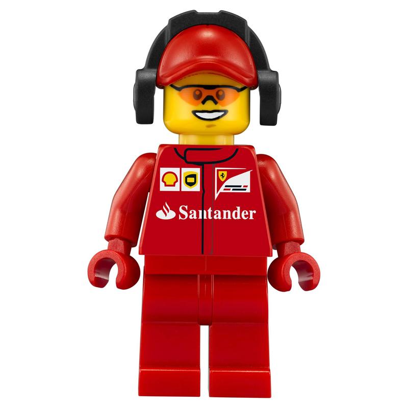 Minifigura LEGO Speed Champions - Primo membro dell'equipaggio della Scuderia Ferrari Uomo