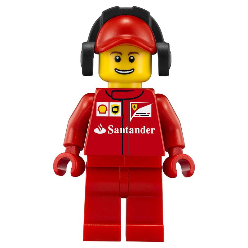 Minifigura LEGO Speed Champions - Secondo membro dell'equipaggio della Scuderia Ferrari Uomo