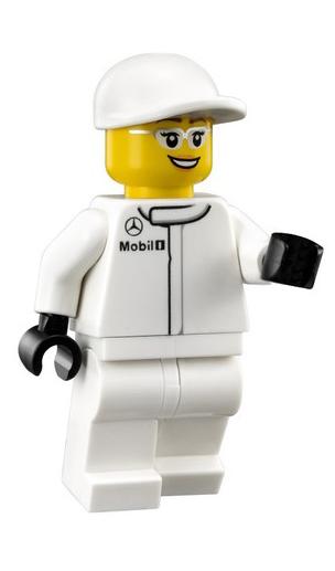 Minifigura LEGO Speed Champions - Tecnico dei Box Mercedes Donna