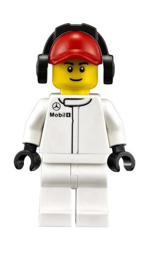 Minifigura LEGO Speed Champions - Tecnico dei Box Mercedes Uomo