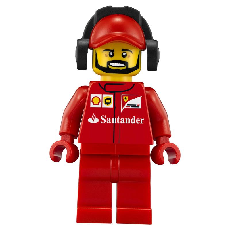 Minifigura LEGO Speed Champions - Terzo membro dell'equipaggio della Scuderia Ferrari Uomo