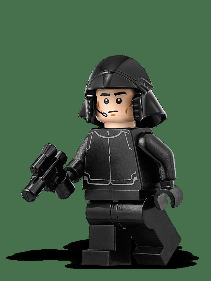 Minifigura LEGO Star Wars - Pilota Navetta del Primo Ordine - Episodio 8: L'Ultimo Jedi